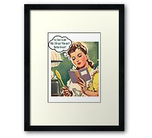 Baking Time Framed Print