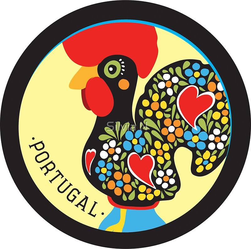 u0026quot;Symbols of Portugal - Roosteru0026quot; Stickers by Silvia Neto : Redbubble
