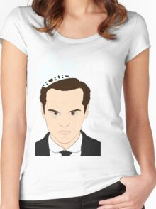 You should see Moriarty in a crown 2 Women's Fitted Scoop T-Shirt