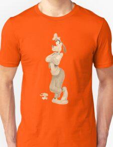 Goofy Sketch Sepia T-Shirt