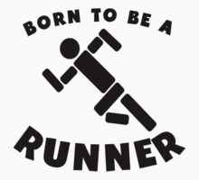 Born To Be A Runner Baby Tee