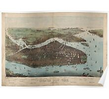 Panoramic Maps The city of greater New York Charles Hart Poster