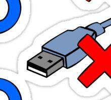 USB positions Sticker