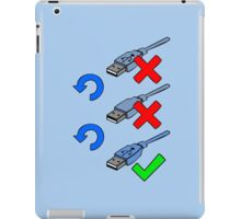 USB positions iPad Case/Skin