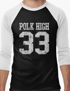 Polk High 33 Men's Baseball ¾ T-Shirt