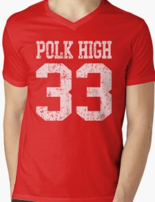 Polk High 33 Mens V-Neck T-Shirt