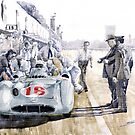 1955 Mercedes Benz W 196 STR Stirling Moss Italian GP Monza by Yuriy Shevchuk