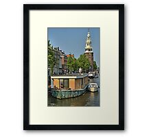 Tower and Canal Framed Print