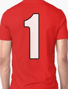 Football, Soccer, 1, One, Number One, First, Team, Number, Red, Devils T-Shirt