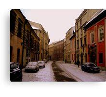 Snowy Krakow Canvas Print