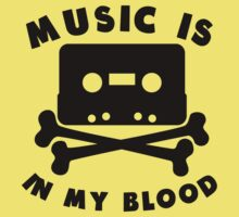 Music Is In My Blood Kids Tee