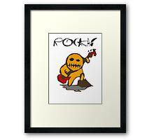 rocka! voo doo bass player Framed Print