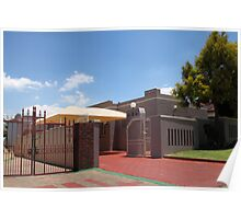 Middle Class House in Soweto Poster