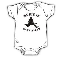 Music Is In My Blood One Piece - Short Sleeve