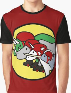 Horned Warrior Friends ROLLER DERBY (Unicorn, Narwhal, Rhino, Triceratops) Graphic T-Shirt