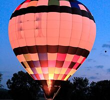 Balloon Glow Over Vevay, Indiana by mim304