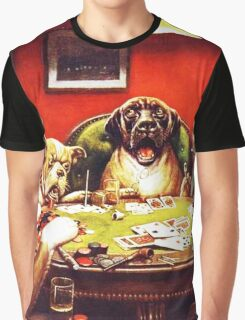 Dogs Playing Poker Vintage postcard Graphic T-Shirt