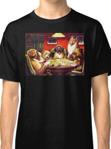 Dogs Playing Poker Vintage postcard Classic T-Shirt