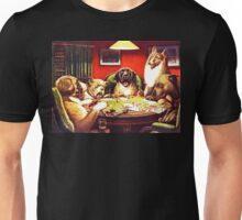 Dogs Playing Poker Vintage postcard Unisex T-Shirt