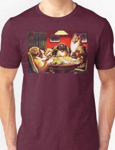 Dogs Playing Poker Vintage postcard T-Shirt