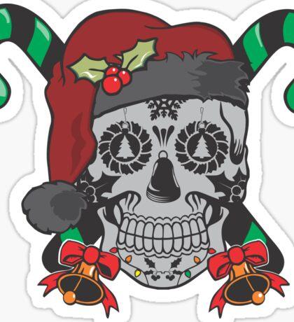 Sugar Skull Christmas Sticker
