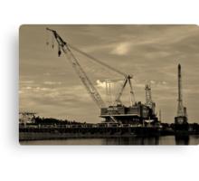 Barge Crane Canvas Print