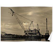 Barge Crane Poster