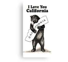 Vintage I Love You California Canvas Print