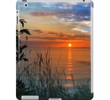sunset over loop head with silhouetted wild tall grass  iPad Case/Skin
