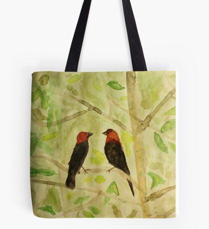 Brown Headed Cowbirds Tote Bag