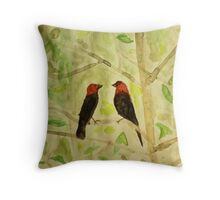Brown Headed Cowbirds Throw Pillow