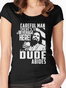 Big Lebowski - Dude Abides Women's Fitted Scoop T-Shirt