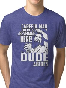 Big Lebowski - Dude Abides Tri-blend T-Shirt