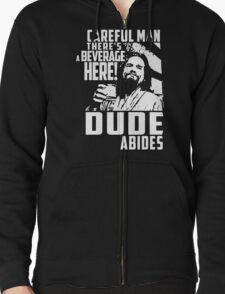 Big Lebowski - Dude Abides Zipped Hoodie