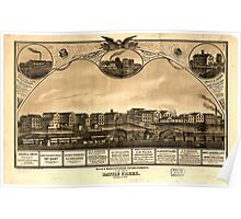 Panoramic Maps Mills manufacturing establishments of the city of Battle Creek Calhoun Co Mich Poster