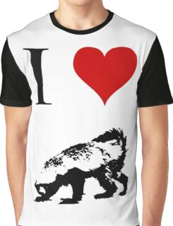 I Love Honey Badger (small) Graphic T-Shirt