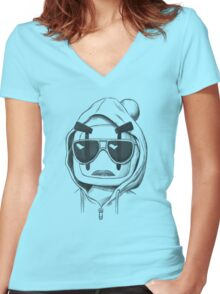 Una-Bomberman Women's Fitted V-Neck T-Shirt