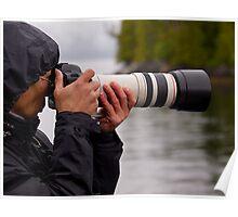 Photographing Alaska. Poster