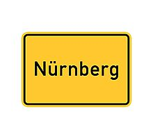 Nuremberg, Germany Road Sign Photographic Print