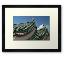 Dragon Design Roof Framed Print
