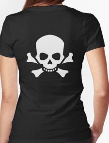 Skull and Crossbones, Horror, Halloween, Pirate, Death, Poison, White T-Shirt