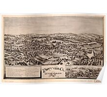 Panoramic Maps Terryville Ct Litchfield Co Poster