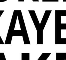 World's Okayest Baker Sticker
