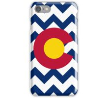 Chevron Colorado Flag Pattern iPhone Case/Skin