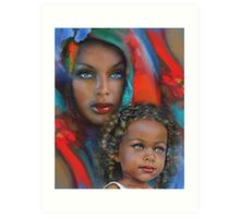 """""""Mother And Child"""" Art Print"""