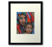 """""""Mother And Child"""" Framed Print"""