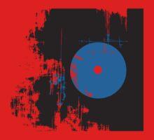 Faded Vinyl Blue One Piece - Long Sleeve