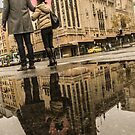 Rainy Melbourne day by David Petranker