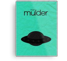 Fox Mulder minimalist poster Metal Print