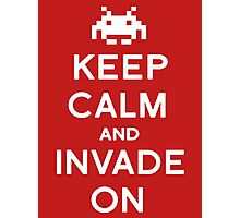 Retro Keep Calm and Invade On Photographic Print